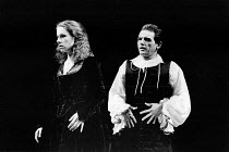 MEASURE FOR MEASURE by Shakespeare design: Bob Crowley lighting: Robert Bryan director: Adrian Noble  David Schofield (Angelo), Juliet Stevenson (Isabella) ** Lo-res uncorrected and un-retouched file...