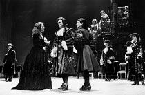 MEASURE FOR MEASURE by Shakespeare design: Bob Crowley lighting: Robert Bryan director: Adrian Noble  front centre, l-r: Juliet Stevenson (Isabella), Daniel Massey (Duke Vincentio), David Schofield (...