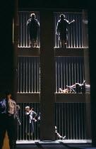 MEASURE FOR MEASURE by Shakespeare design: Mark Thompson lighting: Mark Henderson director: Nicholas Hytner  prison Royal Shakespeare Theatre, Royal Shakespeare Company (RSC), Stratford-upon-Avon, En...