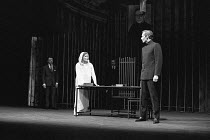 MEASURE FOR MEASURE by Shakespeare set design: Patrick Roberston costumes: Rosemary Vercoe lighting: Geoffrey Mersereau director: John Neville assisted by Michael Rudman  l-r: (rear) Jimmy Thompson (...