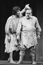 KING LEAR by Shakespeare design: Alan Barlow & Brenda Harthill Moores lighting: Mark Pritchard director: David William ~l-r: Ian McKellen (Edgar), Ronald Radd (Gloucester)~The Actors Company, Wimbledo...