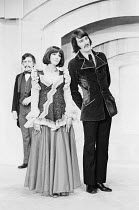 THE OLD MAN'S COMFORTS by Perry Pontac director: Charles Marowitz  l-r: Neil Cunningham, Fenella Fielding (Laverta), Malcolm Storry (Krotolon) Open Space Theatre, London W1 12/1972 (c) Donald Cooper/...
