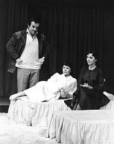 OLD TIMES  by Harold Pinter  set design & lighting: John Bury  costumes: Beatrice Dawson  director: Peter Hall   l-r: Colin Blakely (Deeley), Dorothy Tutin (Kate), Vivien Merchant (Anna) ** Lo-res un...