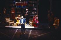 MAYDAYS by David Edgar set design: John Gunter costumes: Di Seymour lighting: Chris Ellis director: Ron Daniels  centre: Antony Sher (Martin Glass) Royal Shakespeare Company (RSC), Barbican Theatre,...