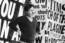THE NORMAL HEART by Larry Kramer design: Geoff Rose lighting: Gerry Jenkinson director: David Hayman  Martin Sheen (Ned Weeks) Royal Court Theatre, London SW1 20/03/1986 (c) Donald Cooper/Photostage...