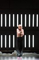 SALOME by Richard Strauss after Oscar Wilde conductor: Martyn Brabbins design: Marg Horwell lighting: Lucy Carter choreographer: Melanie Lane director: Adena Jacobs ~Allison Cook (Salome) English Nati...