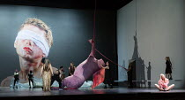 SALOME by Richard Strauss after Oscar Wilde conductor: Martyn Brabbins design: Marg Horwell lighting: Lucy Carter choreographer: Melanie Lane director: Adena Jacobs ~seated right: Allison Cook (Salome...