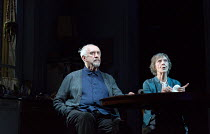 THE HEIGHT OF THE STORM by Florian Zeller translated by Christopher Hampton design: Anthony Ward director: Jonathan Kent   Jonathan Pryce (Andre), Eileen Atkins (Madeleine) Wyndham's Theatre, London...