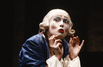 MOZART AND SALIERI by Alexander Pushkin translated by Lore Brunner designed & directed by Manfred Karge   Tilda Swinton (as Wolfgang Amadeus Mozart) Almeida Theatre, London N1 07/04/1989 (c) Donald C...