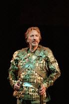 ANTONY AND CLEOPATRA by Shakespeare set design: Tim Hatley costumes: David Belugou lighting: Mark Henderson director: Sean Mathias  Alan Rickman (Mark Antony) Olivier Theatre, National Theatre (NT),...