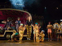 WISE CHILDREN by Angela Carter adapted & directed by Emma Rice design: Vicki Mortimer lighting: Malcolm Rippeth choreography: Etta Murfitt  jumping (in check trousers): Sam Archer (Young Peregrine) O...