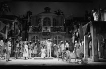 MEASURE FOR MEASURE by Shakespeare set design: Eileen Diss costumes: Lindy Hemming director: Michael Rudman   centre: Norman Beaton (Angelo) top right: Stefan Kalipha (Duke Vincentio) Lyttelton Thea...