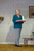 THE CANE by Mark Ravenhill design: Chloe Lamford lighting: Natasha Chivers director: Vicky Featherstone <br> Maggie Steed (Maureen)Jerwood Theatre Downstairs / Royal Court Theatre, London SW1 13/12/20...