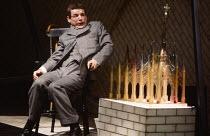 THE ELEPHANT MAN by Bernard Pomerance set design: Tanya McCallin costumes: Lindy Hemming lighting: Gerry Jenkinson director: Roland Rees <br> David Schofield (John Merrick) Lyttelton Theatre, National...