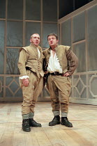 ROSENCRANTZ AND GUILDENSTERN ARE DEAD by Tom Stoppard design: Lez Brotherston lighting: Howard Harrison director: Matthew Francis <br>~l-r: Adrian Scarborough (Rosencrantz), Simon Russell Beale (Guild...