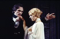 DRACULA by Hamilton Deane & John Balderston after Bram Stoker design: Edward Gorey director: Dennis Rosa <br> Terence Stamp (Count Dracula), Rosalind Ayres (Lucy Seward) Shaftesbury Theatre, London...