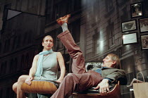 MR PETERS' CONNECTIONS by Arthur Miller set design: Peter J. Davison costumes: Nadine Schofield & Peter J. Davison lighting: Mark Henderson director: Michael Blakemore <br>Becky Veduccio (Rose), John...