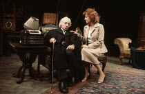 THE PRICE by Arthur Miller design: Bernard Culshaw director: Anthony Cornish <br>Martin Friend (Gregory Solomon), Frances Cuka (Esther Franz)Shaw Theatre, London NW1 20/10/1980 (c) Donald Cooper/Photo...
