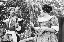 MUCH ADO ABOUT NOTHING by Shakespeare director: David Conville <br> Gary Bond (Benedick), Irena Mayeska (Beatrice) Open Air Theatre, Regent's Park, London NW1 14/07/1970 (c) Donald Cooper/Photostage...