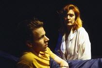 BEAUTIFUL THING by Jonathan Harvey design: Robin Don lighting: Johanna Town director: Hettie Macdonald <br> Mark Letheren (Jamie), Patricia Kerrigan (Sandra) Bush Theatre, London W12 28/07/1993 (c) Do...