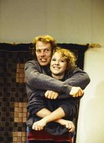 HERE by Michael Frayn design: Ashley Martin-Davis lighting: Mark Henderson director: Michael Blakemore <br>Iain Glen (Phil), Teresa Banham (Cath)Donmar Warehouse, London WC2 08/1993(c) Donald Cooper/P...
