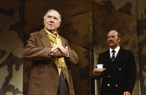 EARLY DAYS by David Storey design: Jocelyn Herbert lighting: Nick Chelton director: Lindsay Anderson <br>l-r: Ralph Richardson (Kitchen), Norman Jones (Bristol) Cottesloe Theatre, National Theatre (NT...