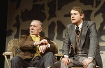 EARLY DAYS by David Storey design: Jocelyn Herbert lighting: Nick Chelton director: Lindsay Anderson <br>l-r: Ralph Richardson (Kitchen), Michael Bangerter (Doctor) Cottesloe Theatre, National Theatre...