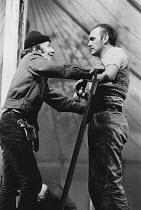 THE CONTRACTOR by David Storey design: John Gunter lighting: Andy Phillips director: Lindsay Anderson <br>l-r: Jim Norton (Marshall), Norman Jones (Bennett)Royal Court Theatre, London SW1 20/10/1969(c...