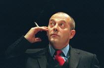 CELEBRATION by Harold Pinter set design: Eileen Diss costumes: Dany Everett lighting: Mick Hughes director: Harold Pinter <br>Keith Allen (Lambert)Almeida Theatre, London N1 22/03/2000 (c) Donald Coop...