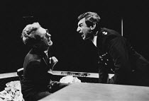 CHRISTIE IN LOVE by Howard Brenton directed by David Hare <br> l-r: William Hoyland (John Halliday Christie), Stanley Lebor (Inspector) Theatre Upstairs, Royal Court Theatre, London SW1 10/03/1970 (c)...