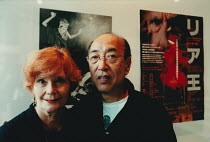 British theatre producer and actress Thelma Holt (1932-) photographed with Japanese theatre stage director Yukio Ninagawa (1935-2016) at the Saitama Arts Theater, Tokyo, Japan in 1999 <br> (c) Donald...