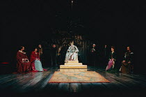 KING LEAR by Shakespeare set design: Yukio Horio costumes: Lily Komine lighting: Tamotsu Harada fights: Masahiro Kunii movement: Suketaro Hanayagi director: Yukio Ninagawa <br>division of the kingdom...