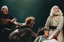KING LEAR by Shakespeare set design: Yukio Horio costumes: Lily Komine lighting: Tamotsu Harada fights: Masahiro Kunii movement: Suketaro Hanayagi director: Yukio Ninagawa <br>l-r: Christopher Benjami...