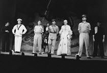 PRIVATES ON PARADE by Peter Nichols design: Michael Annals lighting: Robert Bryan director: Michael Blakemore <br>l-r: Tim Wylton (Lance Corporal Charles Bishop), Denis Quilley (Acting Captain Terri D...