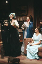 TIME AND THE CONWAYS by J.B. Priestley design: Terry Parsons lighting: Mark Pritchard director: Richard Olivier <br> l-r; Julie-Kate Olivier (Carol Conway), Susan Kyd (Hazel Conway), Joan Plowright (M...