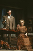 TIME AND THE CONWAYS by J.B. Priestley design: Terry Parsons lighting: Mark Pritchard director: Richard Olivier <br> Colin Haigh (Ernest Beevers), Joan Plowright (Mrs Conway) The Old Vic, London SE1 0...