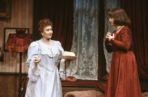 TIME AND THE CONWAYS by J.B. Priestley design: Terry Parsons lighting: Mark Pritchard director: Richard Olivier <br> l-r; Joan Plowright (Mrs Conway), Julia Swift (Madge Conway) The Old Vic, London SE...
