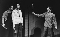 ARTAUD AT RODEZ written & directed by Charles Marowitz <br> right: Clive Merrison (Antonin Artaud) - reference scan/hi-res from negative available to order Open Space Theatre, London NW1 12/1975 (c) D...