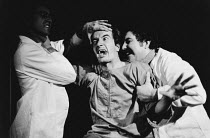 ARTAUD AT RODEZ written & directed by Charles Marowitz <br> Clive Merrison (Antonin Artaud) Open Space Theatre, London NW1 12/1975 (c) Donald Cooper/Photostage photos@photostage.co.uk ref/BW-P-277-33a