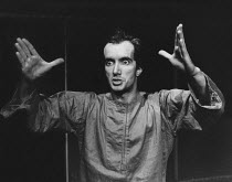 ARTAUD AT RODEZ written & directed by Charles Marowitz <br> Clive Merrison (Antonin Artaud) - reference scan/hi-res from negative available to order Open Space Theatre, London NW1 12/1975 (c) Donald C...