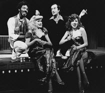 CENSORED SCENES FROM KING KONG by Howard Schuman music: Andy Roberts director: Colin Bucksey <br> front, l-r: Little Nell, Mary Maddox rear: Guy Gregory, Clive Merrison Open Space Theatre, London W1 2...