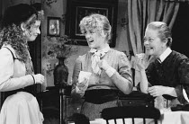 A COLLIER'S FRIDAY NIGHT by D.H. Lawrence design: Kenny Miller lighting: Gerry Jenkinson director: John Dove <br> l-r: Jane Horrocks (Beatrice), Claire Parker (Nellie), Annette Crosbie (Mrs Lambert) G...
