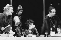 TOP GIRLS by Caryl Churchill set design: Peter Hartwell costumes: Pam Tait lighting: Robin Myerscough-Walker director: Max Stafford-Clark <br>l-r: Lindsay Duncan (Lady Nijo), Carole Hayman (Dull Gret)...