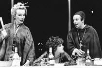 TOP GIRLS by Caryl Churchill set design: Peter Hartwell costumes: Pam Tait lighting: Robin Myerscough-Walker director: Max Stafford-Clark <br>l-r: Lindsay Duncan (Lady Nijo), Gwen Taylor (Marlene), Se...