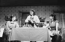 TOP GIRLS by Caryl Churchill design: Anabel Temple lighting: Robin Myerscough-Walker director: Max Stafford-Clark <br> l-r: Lesley Manville (Marlene), Lesley Sharp (Angie), Deborah Findlay (Mrs Kidd /...