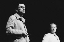 TALES FROM HOLLYWOOD by Christopher Hampton design: Alison Chitty lighting: Stephen Wentworth director: Peter Gill <br>l-r: Ian McDiarmid (Bertolt Brecht), Michael Gambon (Odon von Horvath)Olivier The...