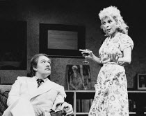 TALES FROM HOLLYWOOD by Christopher Hampton design: Alison Chitty lighting: Stephen Wentworth director: Peter Gill <br> Michael Gambon (Odon von Horvath), Billie Whitelaw (Nelly Mann) Olivier Theatre...