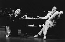 TALES FROM HOLLYWOOD by Christopher Hampton design: Alison Chitty lighting: Stephen Wentworth director: Peter Gill <br> Michael Gambon (Odon von Horvath), Billie Whitelaw (Nelly Mann) Olivier Theatre,...