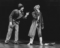 TALES FROM HOLLYWOOD by Christopher Hampton design: Alison Chitty lighting: Stephen Wentworth director: Peter Gill <br>l-r: Roderick Smith (Chico Marx), Harry Dickman (Harpo Marx) Olivier Theatre, Nat...