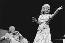 TALES FROM HOLLYWOOD by Christopher Hampton design: Alison Chitty lighting: Stephen Wentworth director: Peter Gill <br> Philip Locke (Heinrich Mann), Billie Whitelaw (Nelly Mann) Olivier Theatre, Nati...